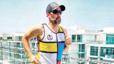 Photo of Una pareja completó un maratón en Dubái en un balcón de 20 metros