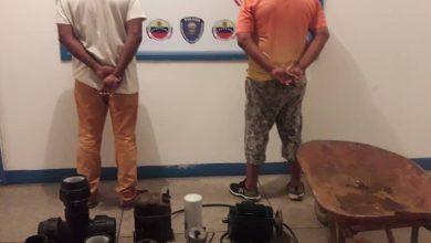 Photo of Detenidos dos integrante de banda delictiva dedicada al hurto de fincas